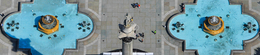 Nelson's Column aerial photography
